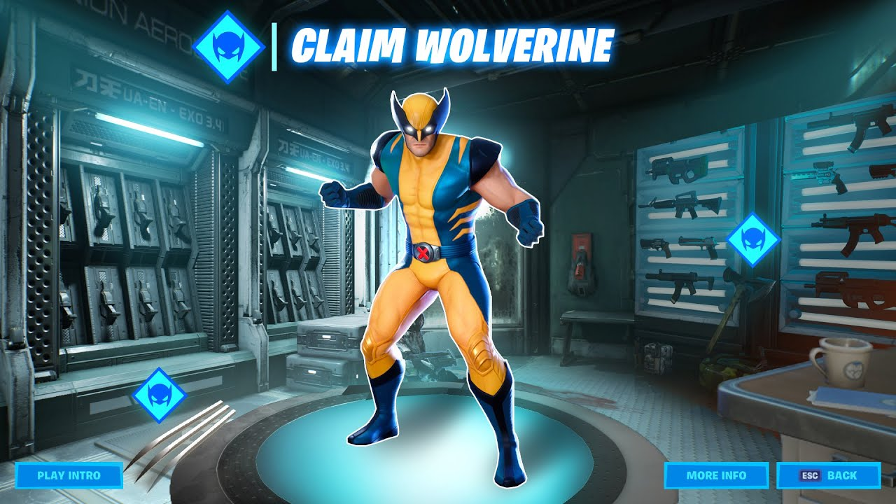 Wolverine Skin in Fortnite